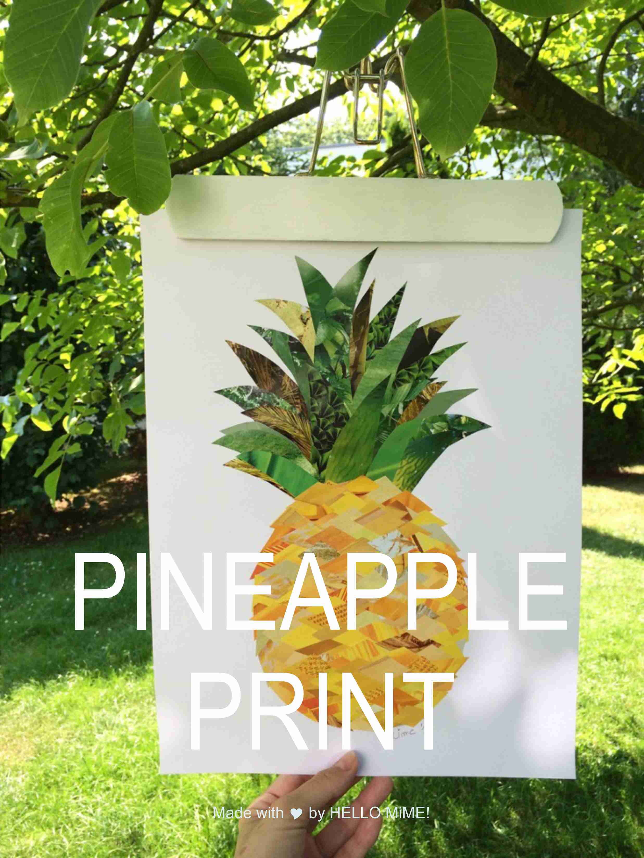 Pineapple print diy