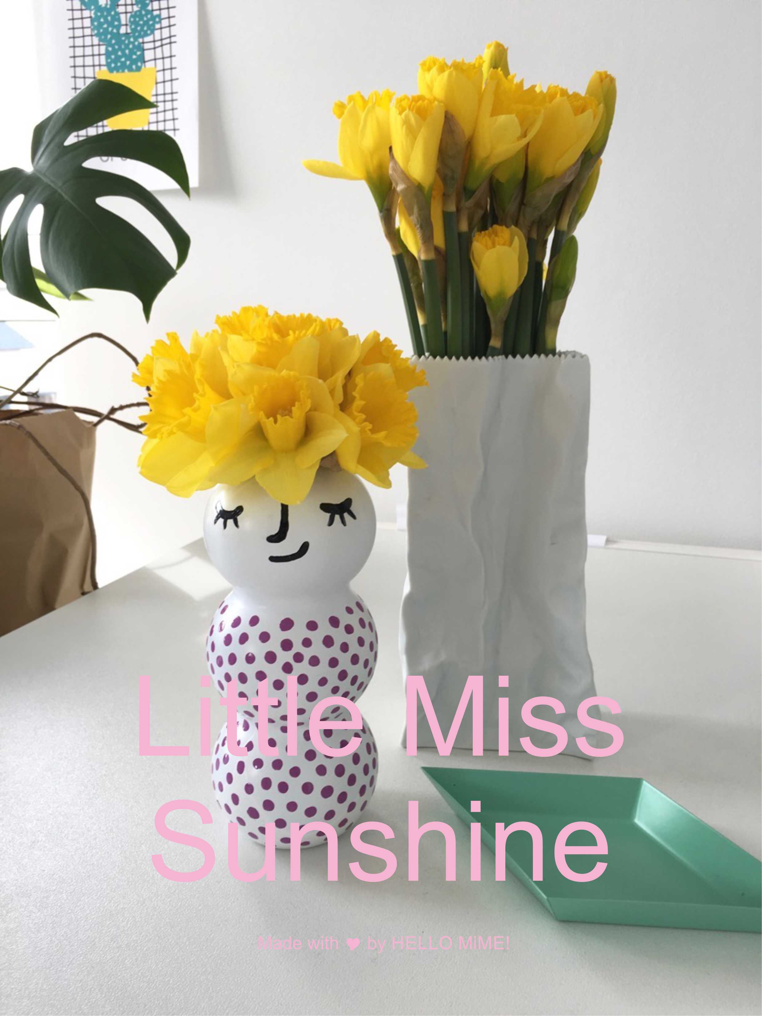 Little Miss Sunshine Vase by HELLO MiME