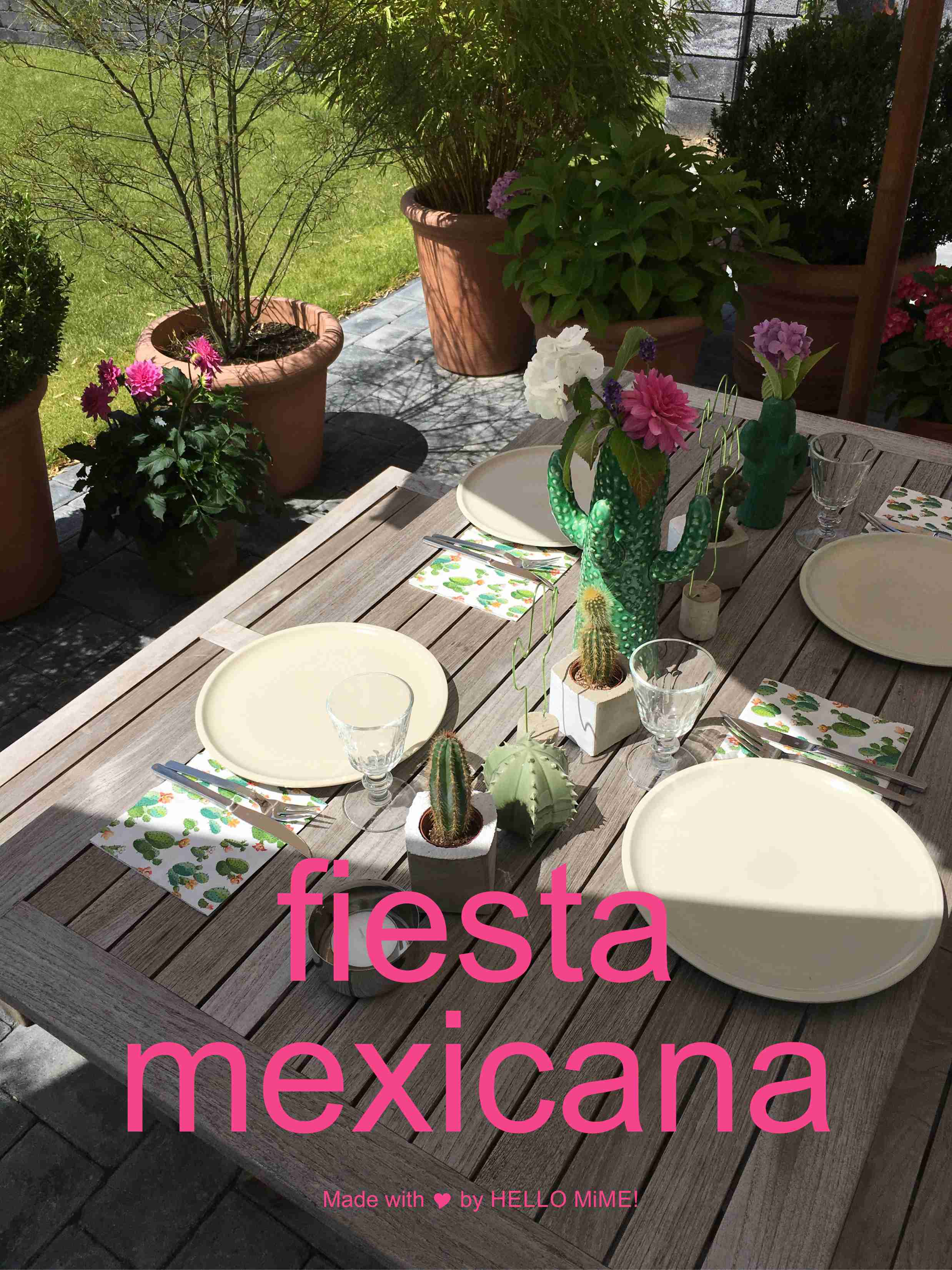 deko ideen mit kakteen f r eine fiesta mexicana hello mime. Black Bedroom Furniture Sets. Home Design Ideas